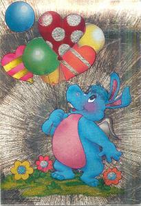 Disney Magazine novelty postcard Hippopotamus 1985 Hasbro Bradley Inc