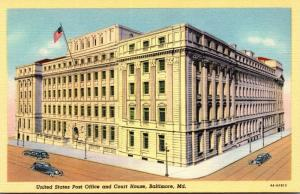 Maryland Baltimore Post Office and Court House Curteich