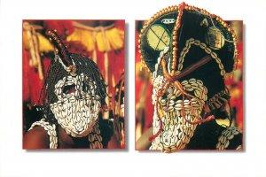 Mali peul & bambara native ethnic mask postcard