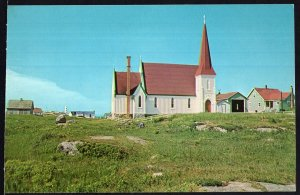 NS View of St. John's Anglican Church at PEGGY'S COVE - Chrome 1950s-1970s