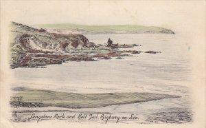 BIGBURY, Devon, England, 1900-1910's; Longstone Rock And Bolt Jail, Bigbury O...