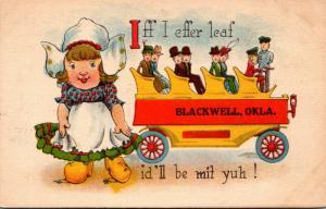 Oklahoma Blackwell Iff I Effer Leaf 1915 Dutch Girl
