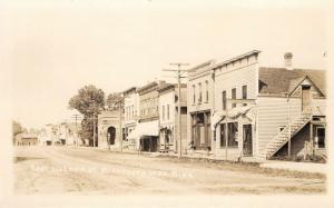 Minnesota Lake MN~East Side Main Street~Photographer~Meat Market~c1912 RPPC