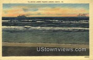 Ocean Liners Passing