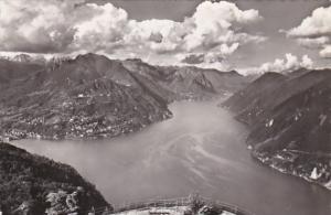 Switzerland Lago di Lugano Monte Bre e sfondo di Porlezza 1952 Photo