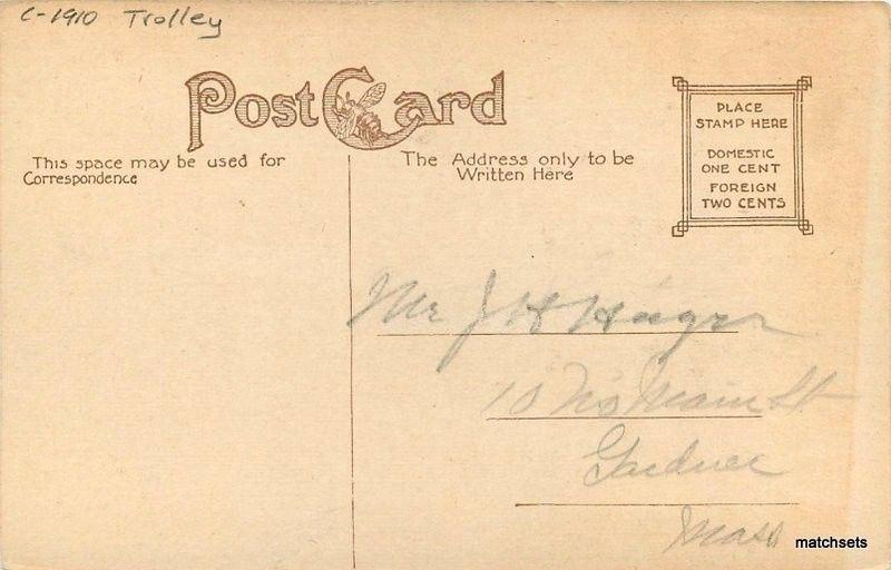 C-1910 Trolley Whalom Park Depot Fitchburg Massachusetts postcard 5296