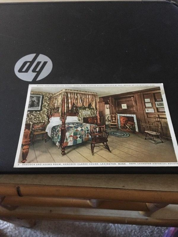 Vtg Postcard: Hancock - Clarke House, Lexington MASS