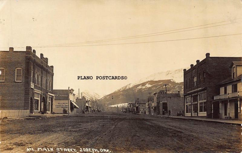 JOSEPH, OREGON, MAIN STREET-EARLY 1900'S RPPC REAL PHOTO POSTCARD
