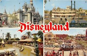 Sleeping Beauty's Castle, Mark Twain Disneyland, Anaheim, CA, USA Postcard Po...