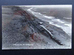 Dorset SOUTHBOURNE Cliffs & Sea showing Beach Huts c1926 RP Postcard