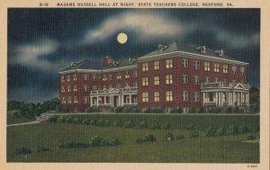 RADFORD , Virginia , 1930-40s ; State Teachers College at night