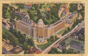 Arkansas Hot Springs Aerial View Of New Army and Navy Hospital Curteich
