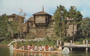 Frontierland Canoes Walt Disney World American Postcard