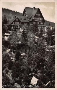 Poland Riesengebirge Zackelfallbaude Forest Postcard