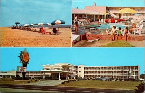 North Carolina NC Nags Head Dareolina Restaurant Sea Oatel Old Vintage POSTCARD