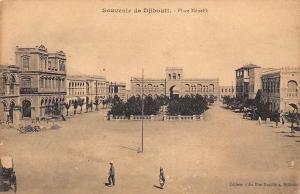 Djibouti Souvenir - Place Menelik, Postcard