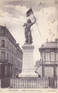 France Compiegne Statue de Jeanne d'Arc 1925