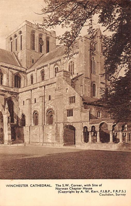 Winchester Cathedral, S.W. Corner, Norman Chapter House Site