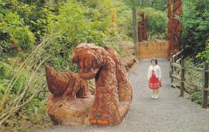 Side Hill Roller, Hand Carved In Gigantic Redwood by Kenyon Kaiser, Redwood H...