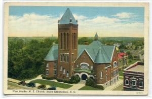 West Market M E Church Greensboro North Carolina 1940 postcard