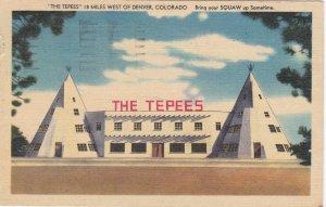 Colorado Denver The Tepees 1950 sk6677
