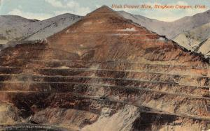 Bingham Canyon Utah Copper Mine Quarry View Antique Postcard K11247