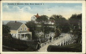 Block Island RI Manisses Hotel c1920 Postcard