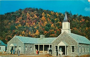 Cherokee Indian Methodist Church North Carolina NC pm Postcard
