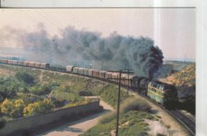 Postal 011227: Doble traccion diesel-vapor tren mercanica linea Mora La nova-...