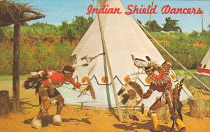 Indian Shield Dancers Rudy Oheltoint and Gus Palmer Jr at Indian City USA