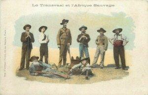 Transvaal heroes BOER WAR riflemen Le Transvaal et l`Afrique Sauvage