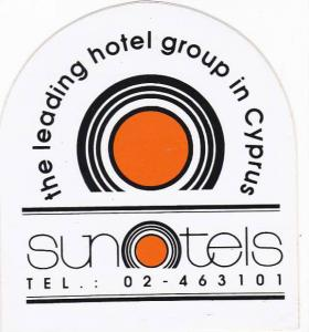 CYPRUS SUN HOTELS VINTAGE LUGGAGE LABEL