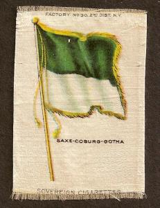 TURN OF CENTURY CIGARETTE SILK -GERMANY-SAXE-COBURG-GOTHA