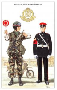 Postcard British Army Series No.69 Corps of Royal Military Police by Geoff White