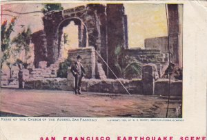 SAN FRANCISCO, California PU-1906; Ruins Of The Church Of The Advent, Earthquake