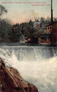 Moore Carpet Factory & Falls, Sherbrooke, Quebec, Canada, Early Postcard, Unused