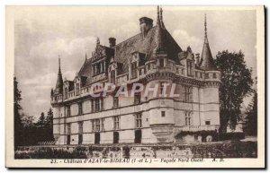 Old Postcard Chateau D & # 39Azay The Facade North West Rideau