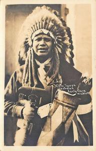 Santa Clara CA Indian Cleto Tafoya Custodian  Real Photo Postcard