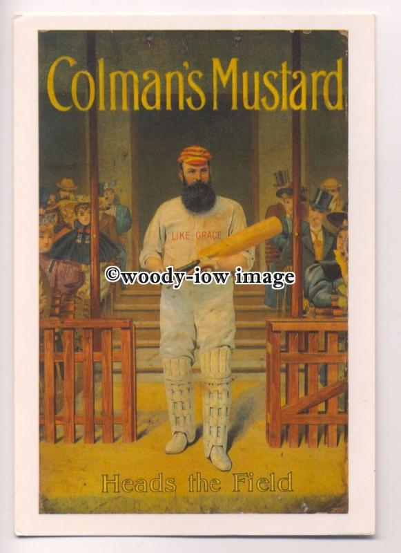 ad3668 - Colmans Mustard - Heads The Field - Cricket - Modern Advert Postcard