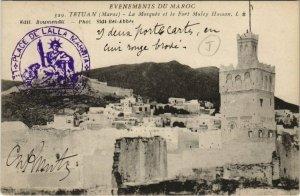 CPA AK TETUAN - La Mosquée et le Fort Muley Hassan MAROC (669564)