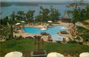 Lake Ozark Missouri~Lodge of Four Seasons~Swimming Pool~1960s Postcard