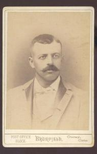 REAL PHOTO CABINET CARD OURAY COLORADO CHRIS BOWMAN BRUMFIELD STUDIO 1892