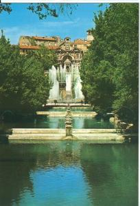 Italy, Tivoli, Villa D'Este, Fish ponds, Neptune and Organ Fountains, Postcard