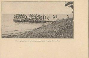 NORTH HERO , Vermont, 1900-10s ; Camp Abnaki ; The Morning Dip
