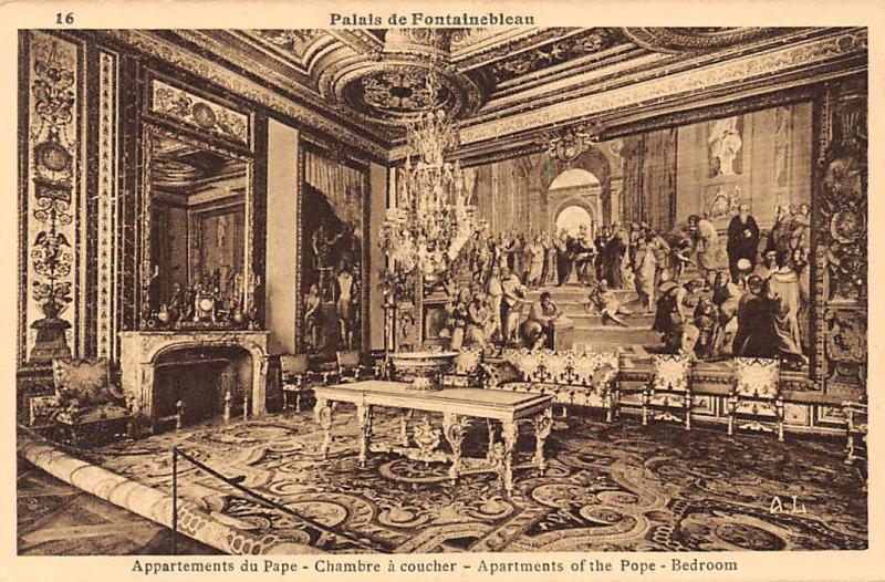 France Palais de Fontainebleau, Appartements du Pape Chambre ...