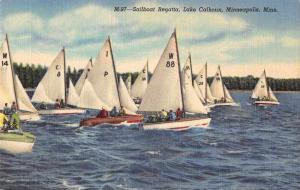 Minneapolis Minnesota Lake Calhoun Sailing Antique Postcard J76261