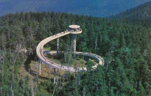 Observation Tower Atop Clingmans Dome Highest Peak In The Great Smoky Mountai...
