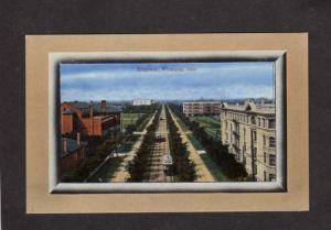 MB Broadway St Ave Trolley Cars Winnipeg Manitoba Carte Postale Canada Postcard