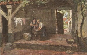 John A.Heyermans. English Cottage Homes Tuck Oilette Postcard # 1531