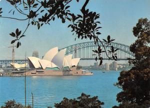 Sydney Australia Bridge and Opera House from Across Harbour Sydney Bridge and...